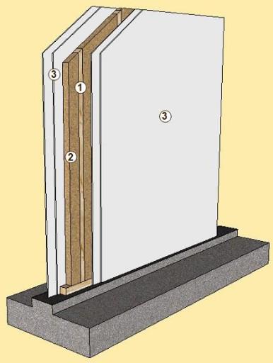 Pareti interne soluzione legno s r l - Parete interna in legno ...